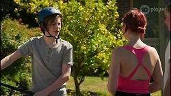 Emmett Donaldson, Nicolette Stone, Chloe Brennan in Neighbours Episode 8604