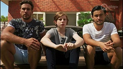 Aaron Brennan, Emmett Donaldson, David Tanaka in Neighbours Episode 8604