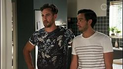 Aaron Brennan, David Tanaka in Neighbours Episode 8605
