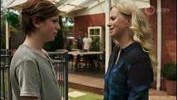 Emmett Donaldson, Aaron Brennan, David Tanaka, Jenna Donaldson in Neighbours Episode 8605