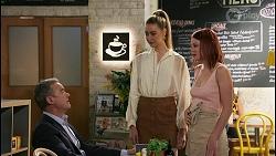 Paul Robinson, Chloe Brennan, Nicolette Stone in Neighbours Episode 8605