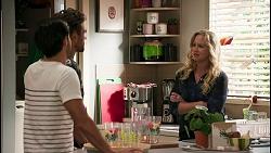 David Tanaka, Aaron Brennan, Jenna Donaldson in Neighbours Episode 8605