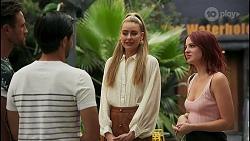 Aaron Brennan, David Tanaka, Chloe Brennan, Nicolette Stone in Neighbours Episode 8605