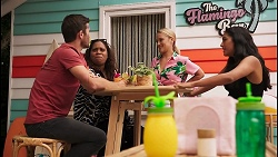 Ned Willis, Sheila Canning 2, Roxy Willis, Yashvi Rebecchi in Neighbours Episode 8607