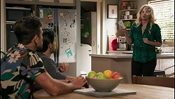 Aaron Brennan, David Tanaka, Jenna Donaldson in Neighbours Episode 8609