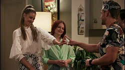 Chloe Brennan, Nicolette Stone, Aaron Brennan, David Tanaka in Neighbours Episode 8609
