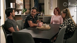 David Tanaka, Aaron Brennan, Nicolette Stone, Chloe Brennan in Neighbours Episode 8609