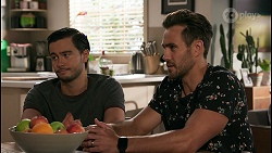 David Tanaka, Aaron Brennan in Neighbours Episode 8610