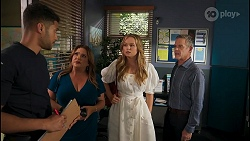 Levi Canning, Terese Willis, Harlow Robinson, Paul Robinson in Neighbours Episode 8611