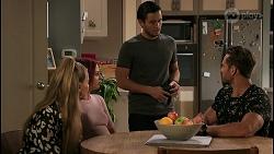 Chloe Brennan, Nicolette Stone, David Tanaka, Aaron Brennan in Neighbours Episode 8611