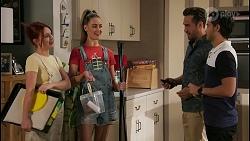 Nicolette Stone, Chloe Brennan, Aaron Brennan, David Tanaka in Neighbours Episode 8611