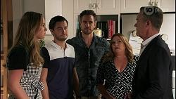 Harlow Robinson, David Tanaka, Aaron Brennan, Terese Willis, Paul Robinson in Neighbours Episode 8611