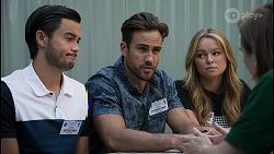 David Tanaka, Aaron Brennan, Harlow Robinson, Brent Colefax in Neighbours Episode 8611