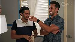 David Tanaka, Aaron Brennan in Neighbours Episode 8611