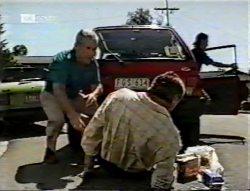 Lou Carpenter, Doug Willis, Brett Stark in Neighbours Episode 2132