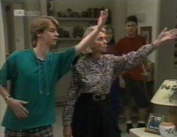 Brett Stark, Helen Daniels, Debbie Martin, Michael Martin in Neighbours Episode 2144