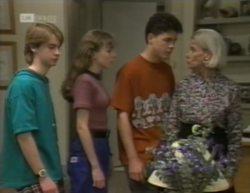 Brett Stark, Debbie Martin, Michael Martin, Helen Daniels in Neighbours Episode 2144