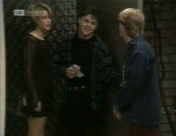 Danni Stark, Michael Martin, Brett Stark in Neighbours Episode 2144