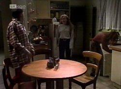 Rick Alessi, Debbie Martin, Cody Willis in Neighbours Episode 2152