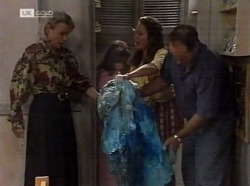Helen Daniels, Hannah Martin, Julie Martin, Philip Martin in Neighbours Episode 2153
