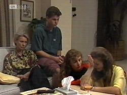 Helen Daniels, Michael Martin, Debbie Martin, Julie Martin in Neighbours Episode 2153