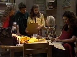 Hannah Martin, Michael Martin, Julie Martin, Helen Daniels, Gaby Willis in Neighbours Episode 2153