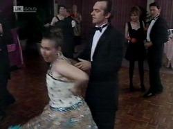 Gaylene Caffknot, Aaron O Connor, Debbie Martin, Les Bambridge in Neighbours Episode 2153