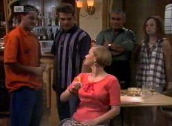 Rick Alessi, Mark Gottlieb, Katarina Torelli, Lou Carpenter, Cody Willis in Neighbours Episode 2155