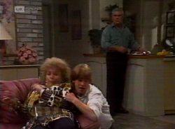 Cheryl Stark, Brett Stark, Lou Carpenter in Neighbours Episode 2155