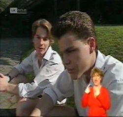 Brett Stark, Michael Martin in Neighbours Episode 2156