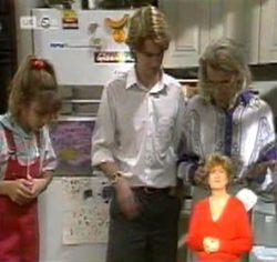 Hannah Martin, Brett Stark, Helen Daniels in Neighbours Episode 2157
