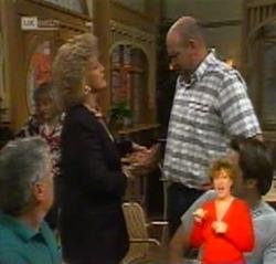 Lou Carpenter, Cheryl Stark, Bert Lazarus, Doug Willis in Neighbours Episode 2159