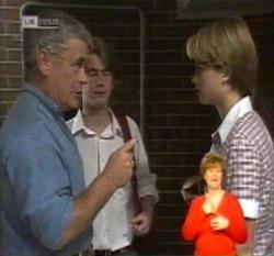 Lou Carpenter, Brett Stark, Danni Stark in Neighbours Episode 2160