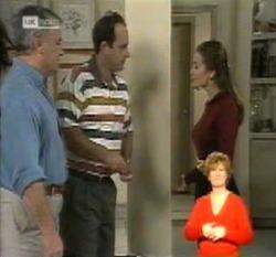 Lou Carpenter, Philip Martin, Julie Martin in Neighbours Episode 2160