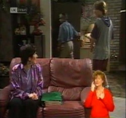 Mitty Petranis, Lou Carpenter, Brett Stark in Neighbours Episode 2160