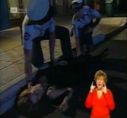 Police Officer #1, Police Officer #2, Danni Stark in Neighbours Episode 2160