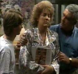 Brett Stark, Cheryl Stark, Lou Carpenter in Neighbours Episode 2161