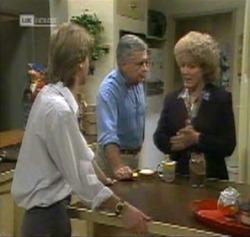 Brett Stark, Lou Carpenter, Cheryl Stark in Neighbours Episode 2161