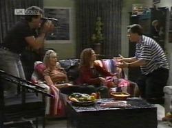 Dave Gottlieb, Annalise Hartman, Cody Willis, Rick Alessi in Neighbours Episode 2163