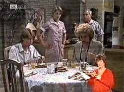 Brett Stark, Danni Stark, Cheryl Stark, Lou Carpenter in Neighbours Episode 2165
