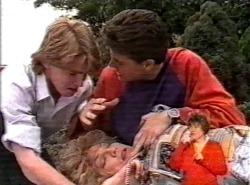 Brett Stark, Cheryl Stark, Michael Martin in Neighbours Episode 2168