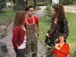 Cody Willis, Rick Alessi, Gaby Willis in Neighbours Episode 2169