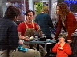 Andrew MacKenzie, Rick Alessi, Cody Willis in Neighbours Episode 2169