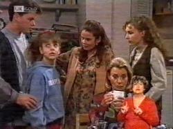 Michael Martin, Hannah Martin, Julie Martin, Debbie Martin in Neighbours Episode 2170
