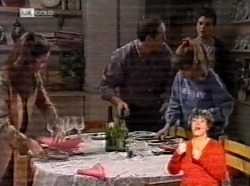 Julie Martin, Philip Martin, Hannah Martin, Michael Martin in Neighbours Episode 2170