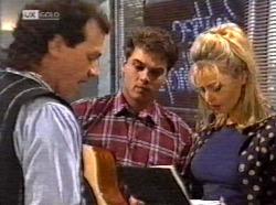 Dave Gottlieb, Mark Gottlieb, Annalise Hartman in Neighbours Episode 2171