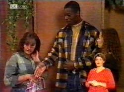 Pam Willis, Drew Grover, Cody Willis in Neighbours Episode 2172