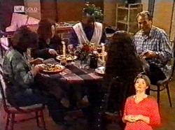 Pam Willis, Cody Willis, Drew Grover, Gaby Willis, Doug Willis in Neighbours Episode 2173