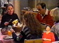 Julie Martin, Debbie Martin, Philip Martin, Helen Daniels in Neighbours Episode 2174