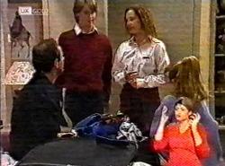 Philip Martin, Brett Stark, Cody Willis, Hannah Martin in Neighbours Episode 2175